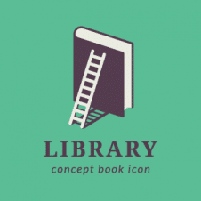 Library Conceot Book Icon Logo Vector images