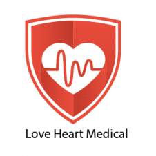 Love Heart Medical Logo Vector images