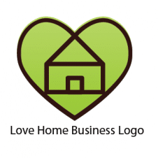 Love Home Business Logo Vector images