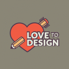 Love To Design Logo Vector images
