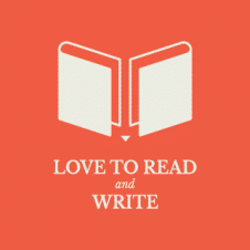 Love To Read And Write Logo Vector images
