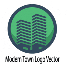 Modern Town Logo Vector images