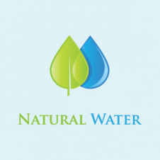 Natural Water Logo Vector images