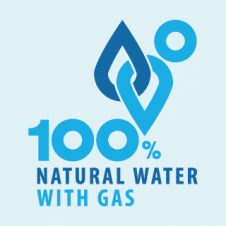 Natural Water With Gas Vector Logo images