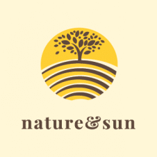 Nature Sun Logo Vector images