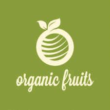Organic Fruits Logo Vector images