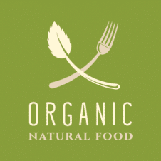 Organic Natural Food Logo Vector images