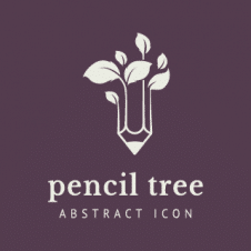 Pencil Tree Logo Vector images