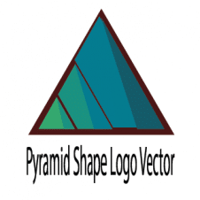Pyramid Shape Logo Vector images