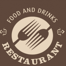 Restaurant Food And Drinks Logo Vector images