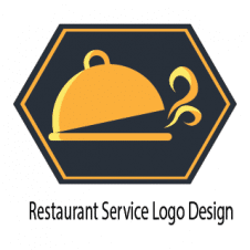Restaurant Service Logo Design images