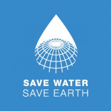 Save Water Save Earth Logo Vector images