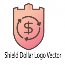 Shield Dollar Logo Vector images