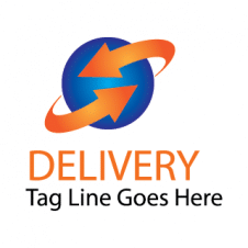 World Delivery Icon Vector Logo images