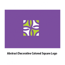 Abstract Decorative Colored Square Logo Vector images