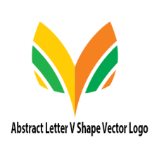 Abstract Letter V Shape Vector Logo images