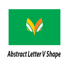 Abstract Letter V Shape Vector Logo Design images