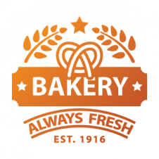 Always Fresh Bakery  Food Logo Vector images