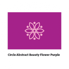 Circle Abstract Beauty Flower Purple Logo images