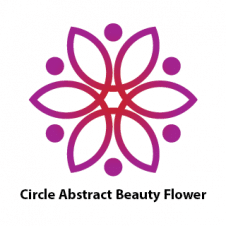 Circle Abstract Beauty Flower Purple Logo Vector images