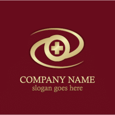 Circle Round Cross Medic Gold Logo Vector images