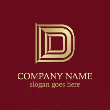 Gold Letter D Company Logo Vector images