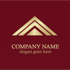 Gold Roof Line Logo Vector images