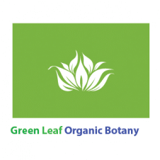 Green Leaf Organic Botany Logo Vector images