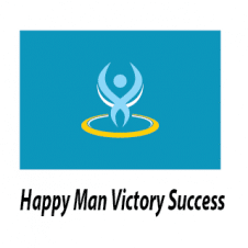 Happy Man Victory Success Logo Vector images