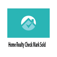 Home Realty Check Mark Sold Logo Vector images