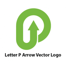 Letter P Arrow Vector Logo images