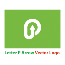 Letter P Arrow Vector Logo Vector images
