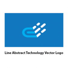Line Abstract Technology Vector Logo Free images