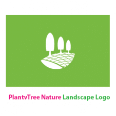 PlantvTree Nature Landscape Logo Vector images