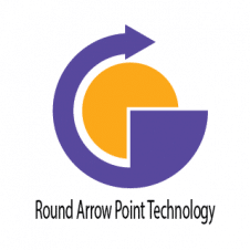 Round Arrow Point Technology Logo images