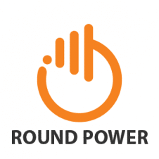 Round Power Button Abstract Logo images