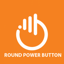 Round Power Button Abstract Logo Vector images