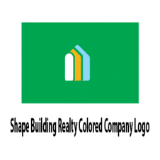 Shape Building Realty Colored Company Logo Vector images