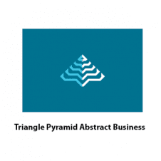 Triangle Pyramid Abstract Line Business Logo Vector Design images