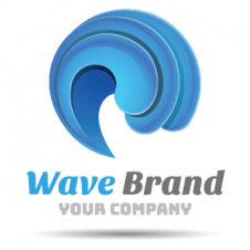 Wave Brand Logo Vector images