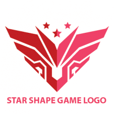 Wing Robo Star Shape Game Logo images
