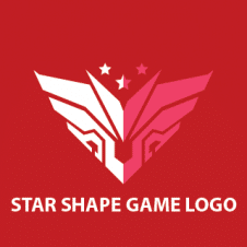 Wing Robo Star Shape Game Logo Vector images