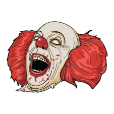 Clown Evil vector logo template images
