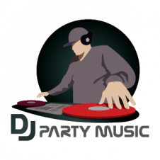 DJ Party vector logo template images