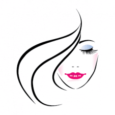 Face of Pretty Woman vector logo images
