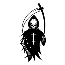 Skeleton with Scythe Vector Logo images