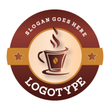 Sketchy Coffee Cup Vector Logo Template images