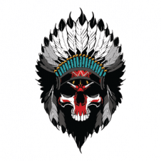 Skull Indian Vector Logo Template images
