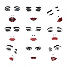 Face Elements Vector Pack images