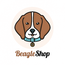 Beagle Shop Logo Vector images
